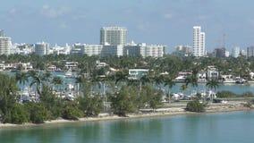 Traffic into Miami beach stock video