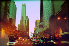 Traffic on Michigan avenue Stock Photos