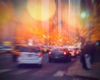 Traffic on Michigan avenue Stock Photos