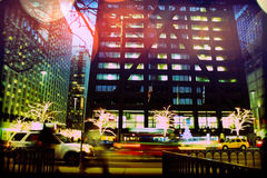 Traffic on Michigan avenue stock images