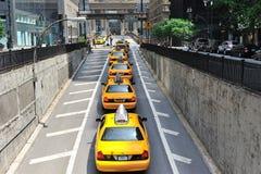 Traffic in midtown manhattan Royalty Free Stock Photo