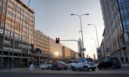 Traffic in Milan Stock Images