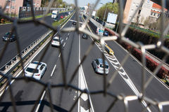 Traffic in Milan stock photography
