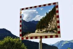 Traffic Mirror Royalty Free Stock Photos