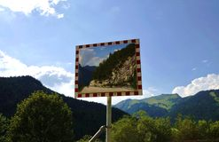 Traffic Mirror Royalty Free Stock Image