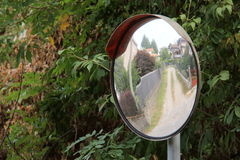 Traffic mirror Royalty Free Stock Photos