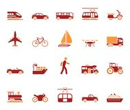 Traffic and mobility icon set. Highly detailed vector stock illustration