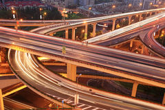 Traffic with modern building Royalty Free Stock Image