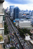 Traffic in modern city, Bangkok Thailand. Stock Photography