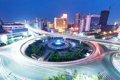 Traffic through modern city in China Royalty Free Stock Photography