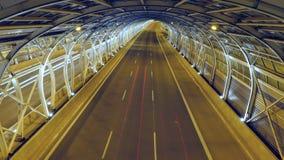 Traffic in modern tunnel stock video