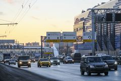 Traffic in Moscow stock photography