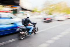 Traffic in motion Royalty Free Stock Photos