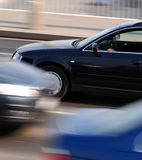 Traffic motion blur. Panning shot with cars motion blur Stock Images