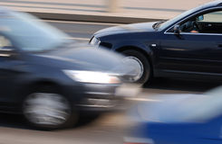 Traffic motion blur. Panning shot with cars motion blur Royalty Free Stock Images