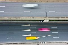 Traffic with motion blur Royalty Free Stock Photography