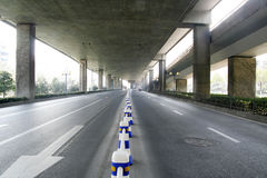 Traffic with motion blur. (long exposure shot Stock Photography