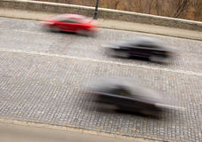 Traffic with motion blur Stock Images