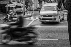 Traffic Motion Blur Stock Photography