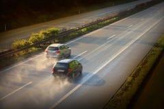 The traffic. Stock Photo