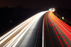 Traffic on the move at nigh Royalty Free Stock Images