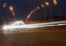 Traffic movement on bridge Royalty Free Stock Image