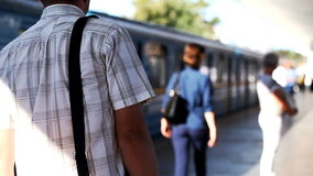 Traffic movement in the subway, blurred background stock footage