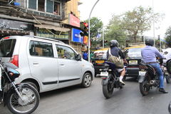 Traffic in Mumbai, India Royalty Free Stock Photography