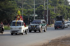 Traffic in Myanmar Stock Photography