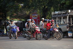 Traffic in Myanmar Royalty Free Stock Photography