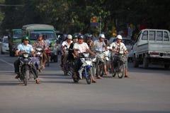 Traffic in Myanmar Royalty Free Stock Image