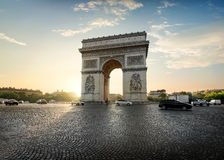 Traffic near Arc de Triomphe Royalty Free Stock Image