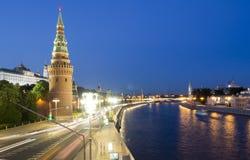 Traffic near Kremlin in Moscow Royalty Free Stock Photos