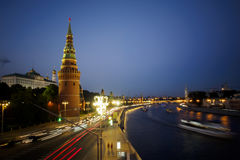 Traffic near Kremlin in Moscow Royalty Free Stock Images