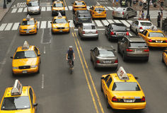 Traffic in New York Royalty Free Stock Photo