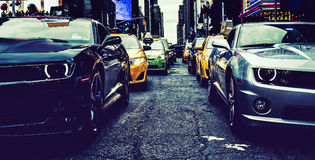 In the traffic of New York Royalty Free Stock Image