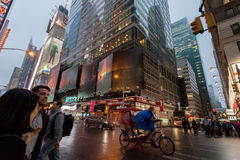People and buildings, New York City Stock Image