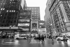 Traffic in New York City Midtown Manhattan Royalty Free Stock Photography