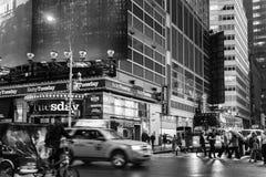 Traffic in New York City Midtown Manhattan Royalty Free Stock Photo