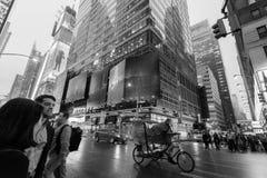 Traffic in New York City Midtown Manhattan Stock Photos