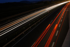 Traffic by night 10# Royalty Free Stock Photo