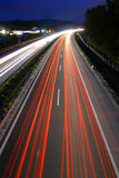 Traffic by night Royalty Free Stock Images