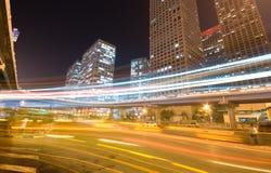 Traffic at night Royalty Free Stock Photo