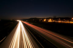 Traffic by night Stock Images