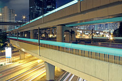 Traffic night Stock Photography