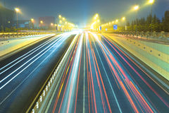Traffic at night Royalty Free Stock Photo