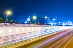 Traffic at night stock images