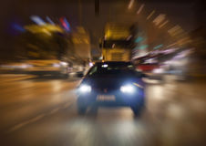 Traffic in night Royalty Free Stock Photos