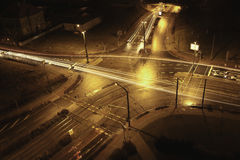 Traffic at night Stock Photography