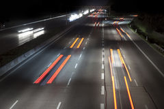 Traffic by night Royalty Free Stock Photos